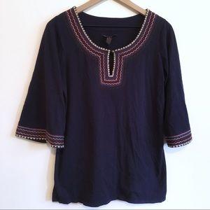 Lucky Brand Purple Bohemian Blouse, M